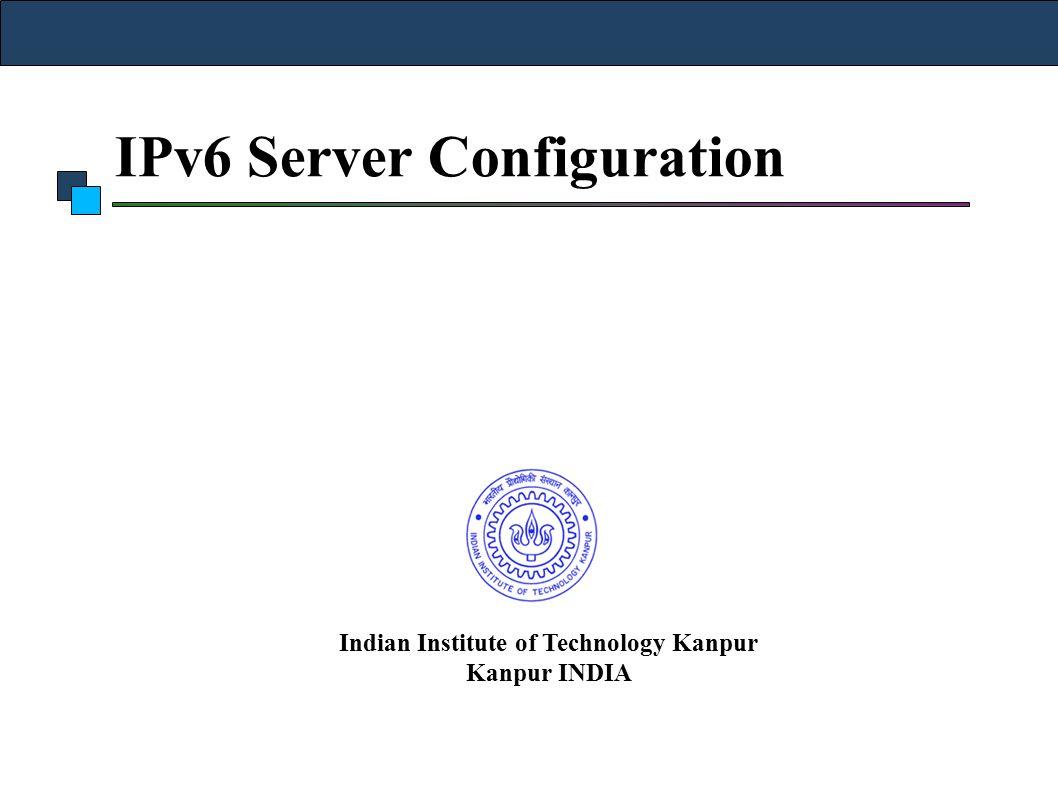 IPv6 Server Configuration