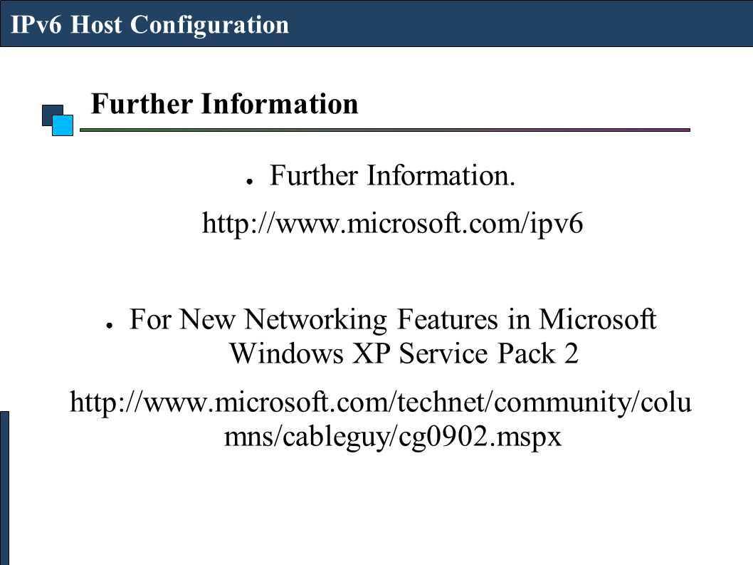 For New Networking Features in Microsoft Windows XP Service Pack 2