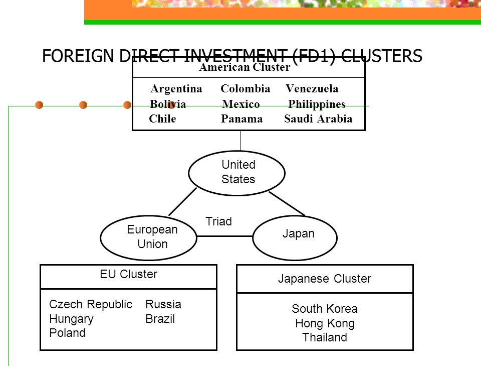 FOREIGN DIRECT INVESTMENT (FD1) CLUSTERS