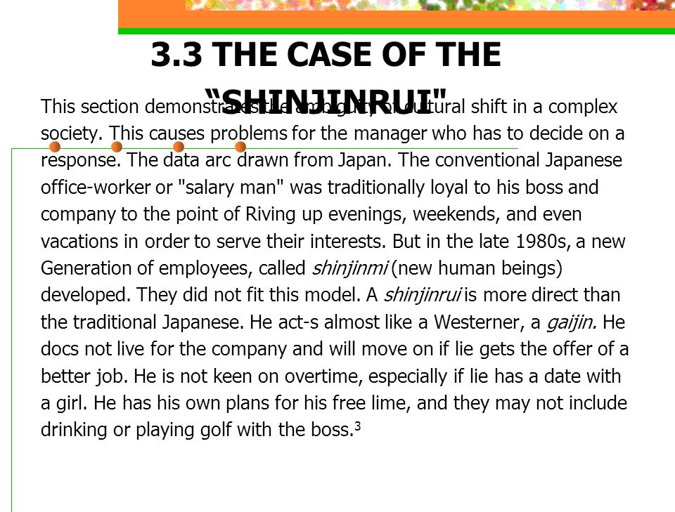 3.3 THE CASE OF THE SHINJINRUI