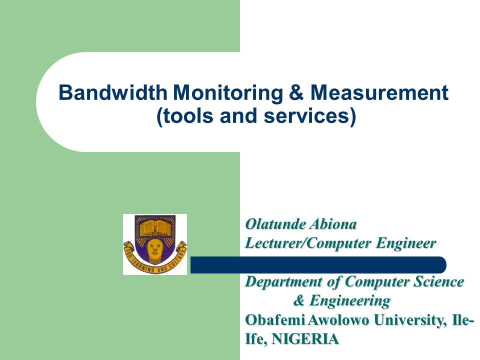 Bandwidth Monitoring & Measurement (tools and services)