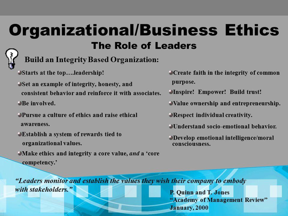 Organizational/Business Ethics