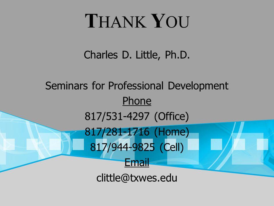 Seminars for Professional Development