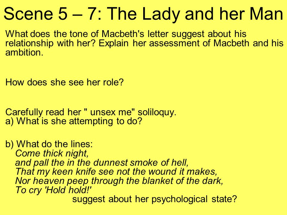 Scene 5 – 7: The Lady and her Man