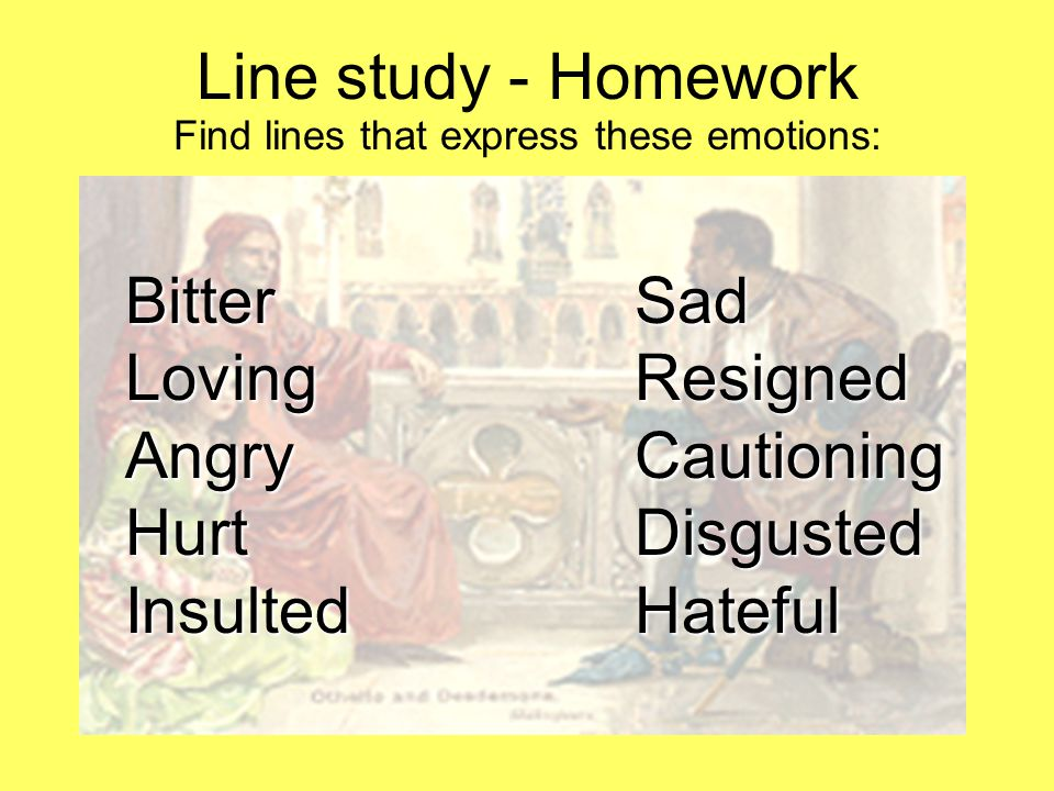 Find lines that express these emotions: