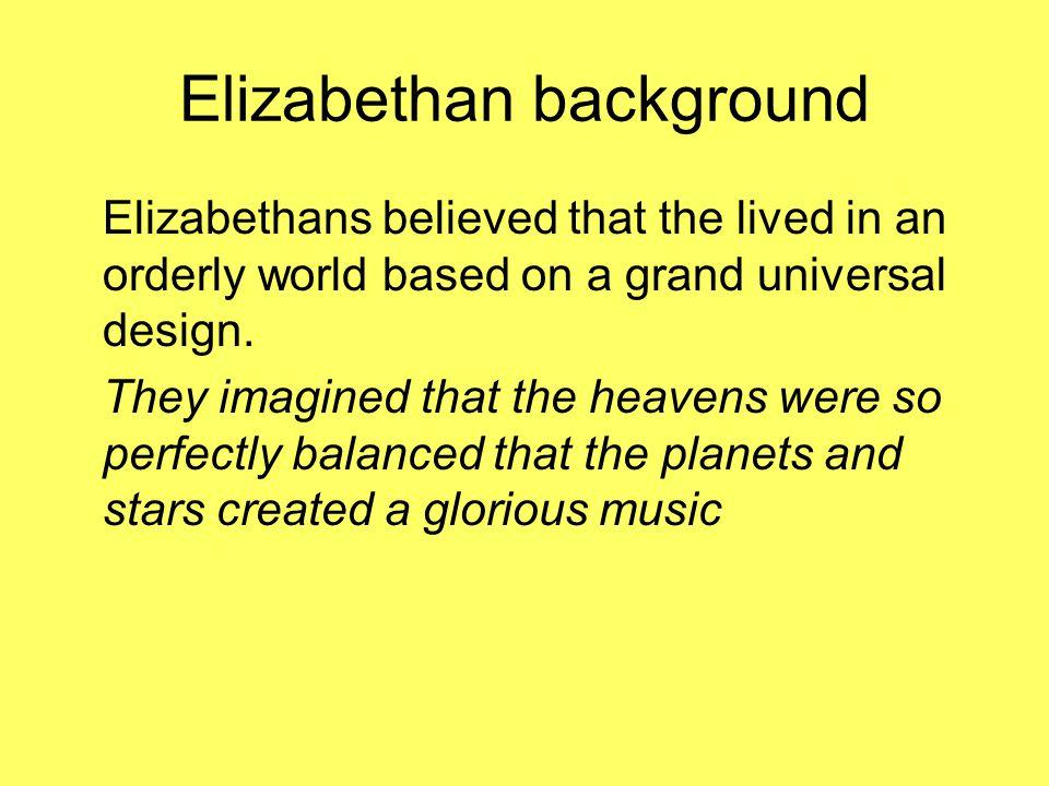 Elizabethan background