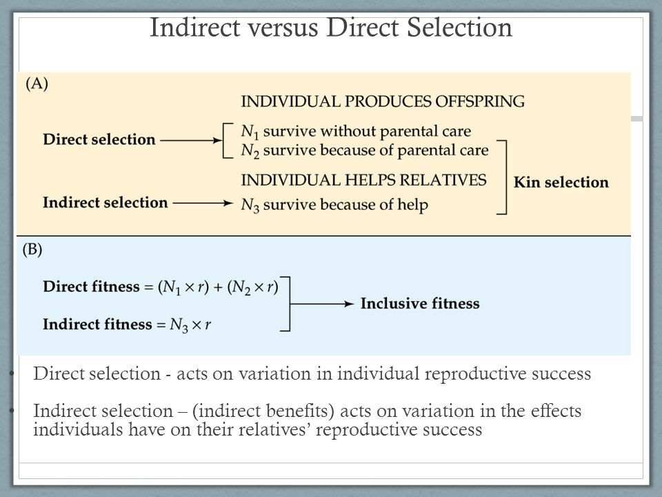 Indirect versus Direct Selection