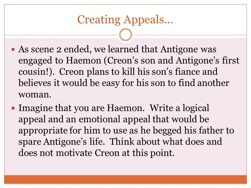 thesis statement for creon in antigone