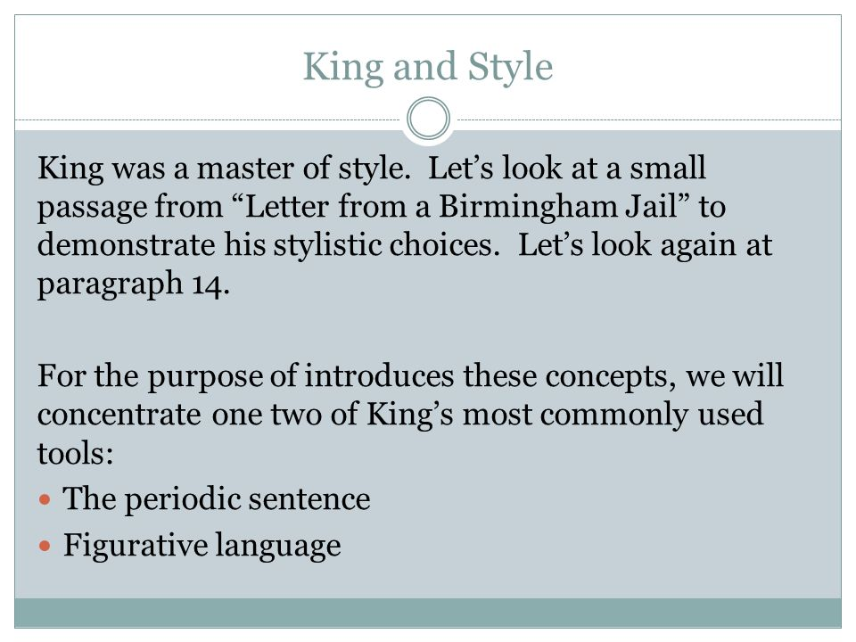 argument essay on letter from a birmingham jail