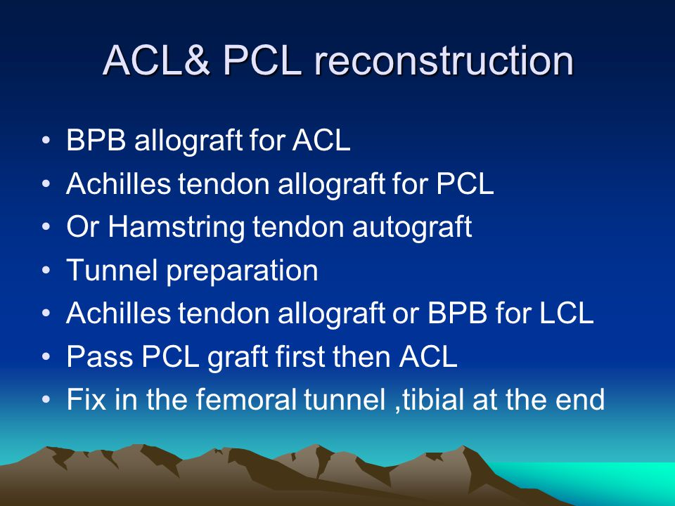 ACL& PCL reconstruction