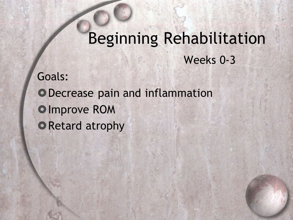 Beginning Rehabilitation