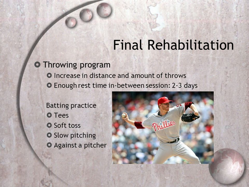 Final Rehabilitation Throwing program