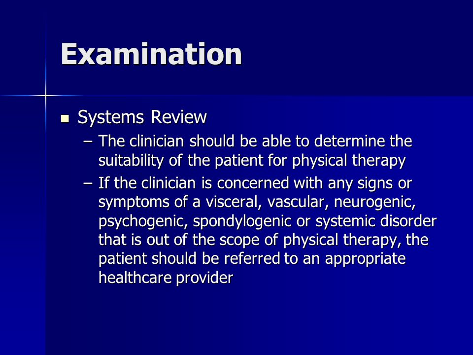 Examination Systems Review