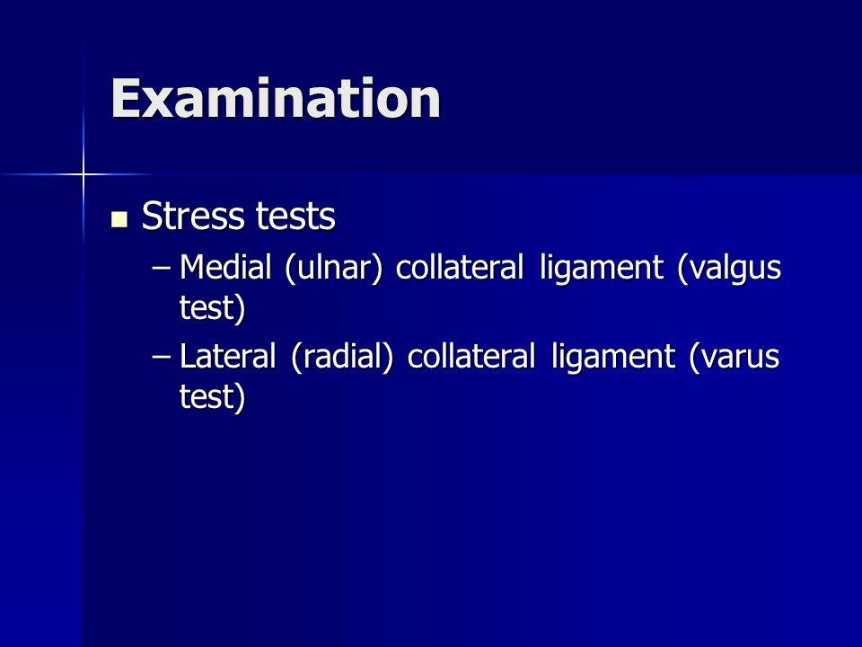 Examination Stress tests