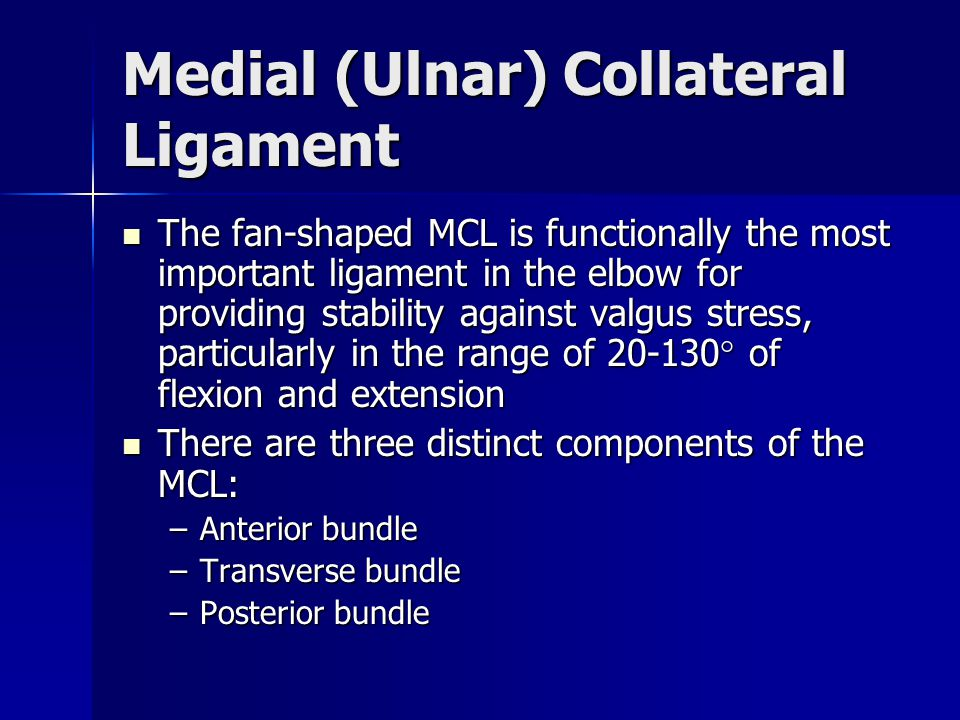 Medial (Ulnar) Collateral Ligament