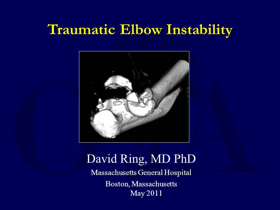 Traumatic Elbow Instability