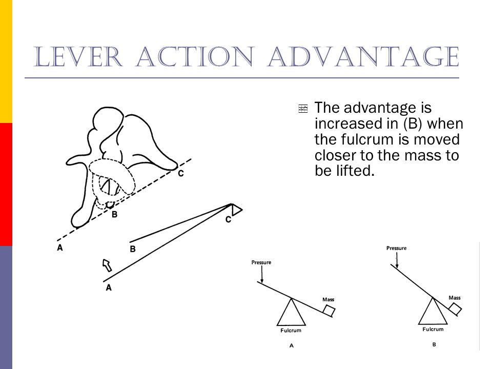 Lever action advantage