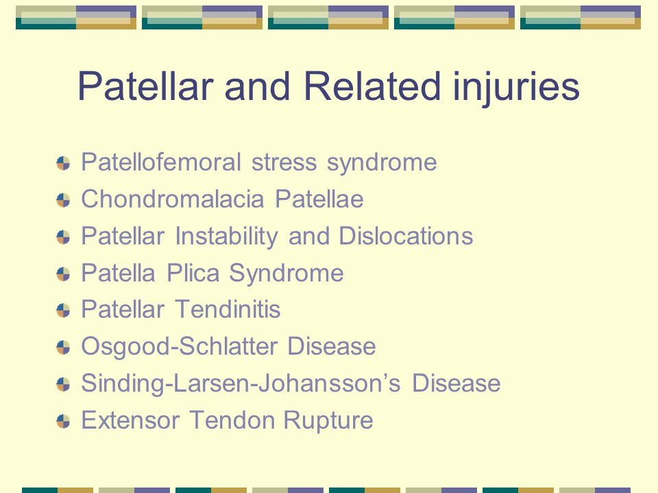 Patellar and Related injuries