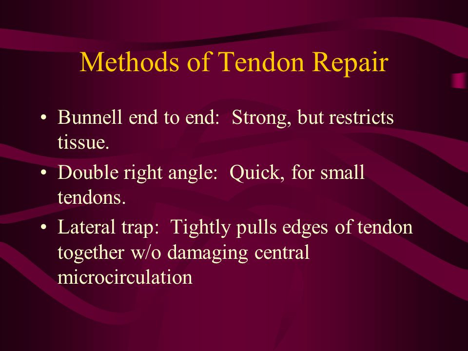 Methods of Tendon Repair