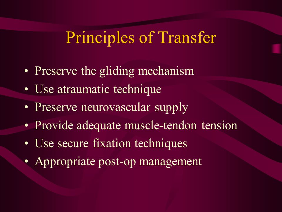Principles of Transfer