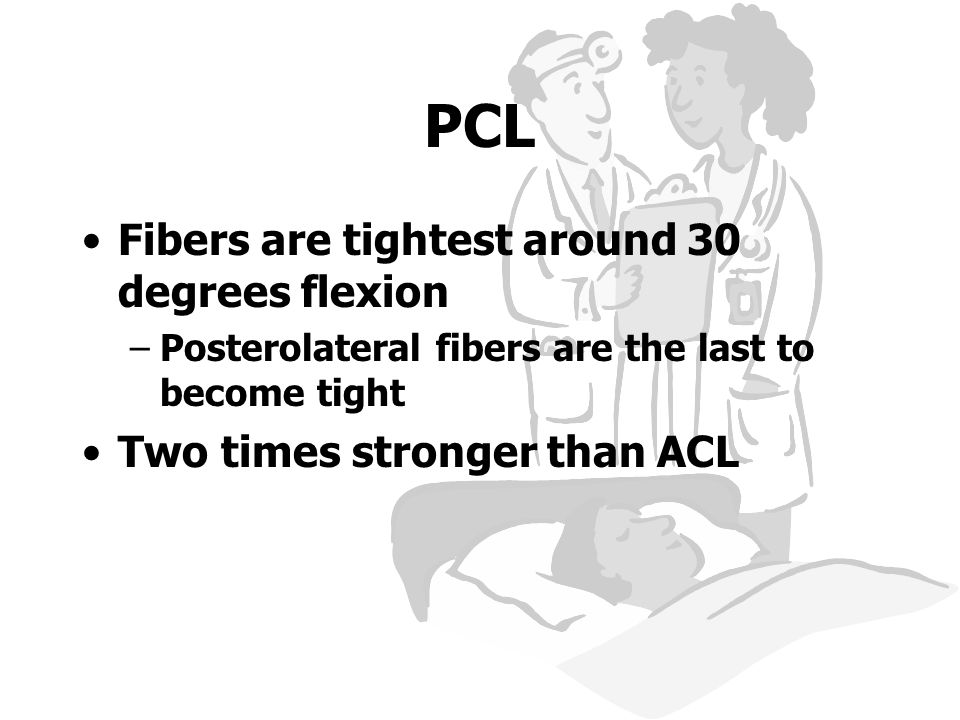 PCL Fibers are tightest around 30 degrees flexion