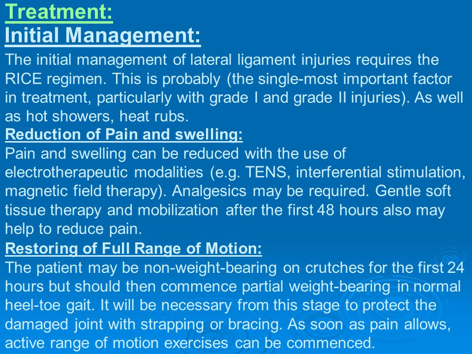 Treatment: Initial Management: