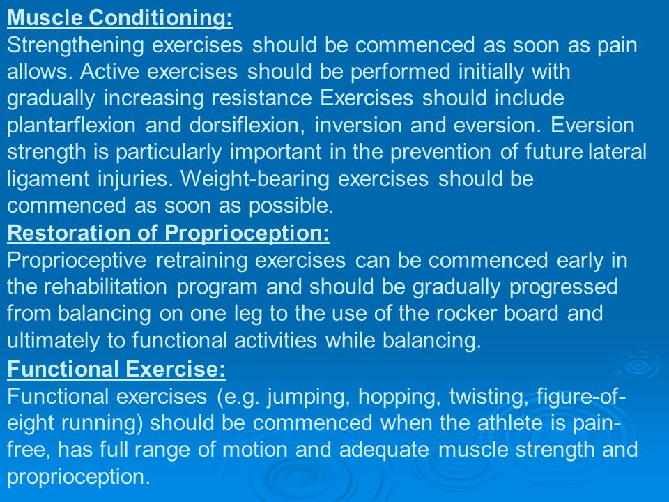 Muscle Conditioning: