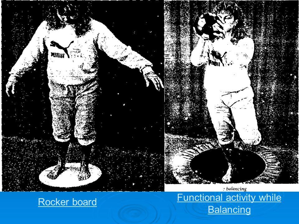 Functional activity while Balancing