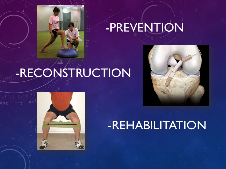 -PREVENTION -RECONSTRUCTION -REHABILITATION