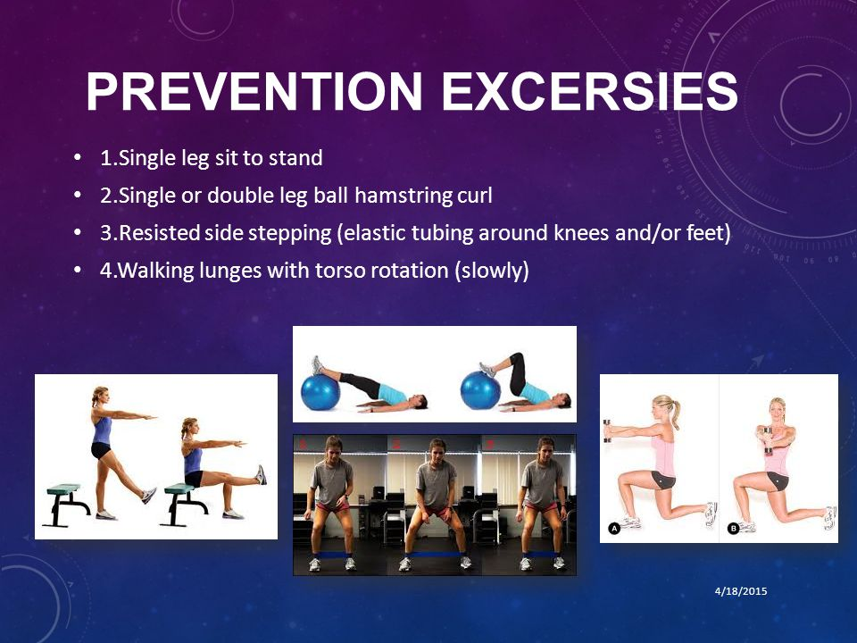 PREVENTION EXCERSIES 1.Single leg sit to stand