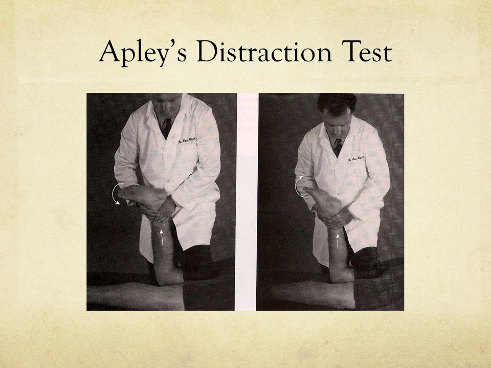 Apley's Distraction Test