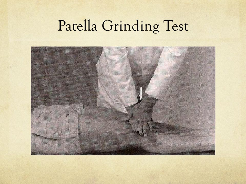 Patella Grinding Test