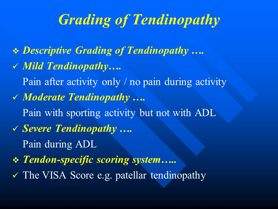 Grading of Tendinopathy