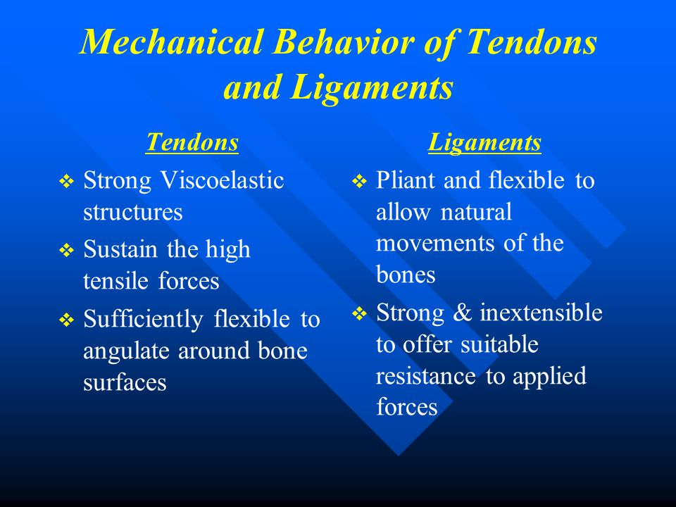 Mechanical Behavior of Tendons and Ligaments