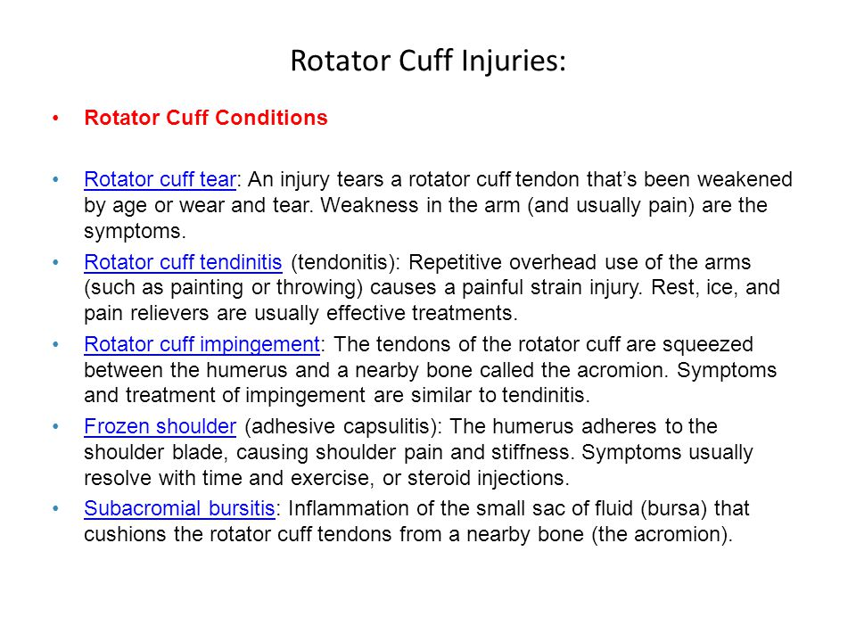 Rotator Cuff Injuries: