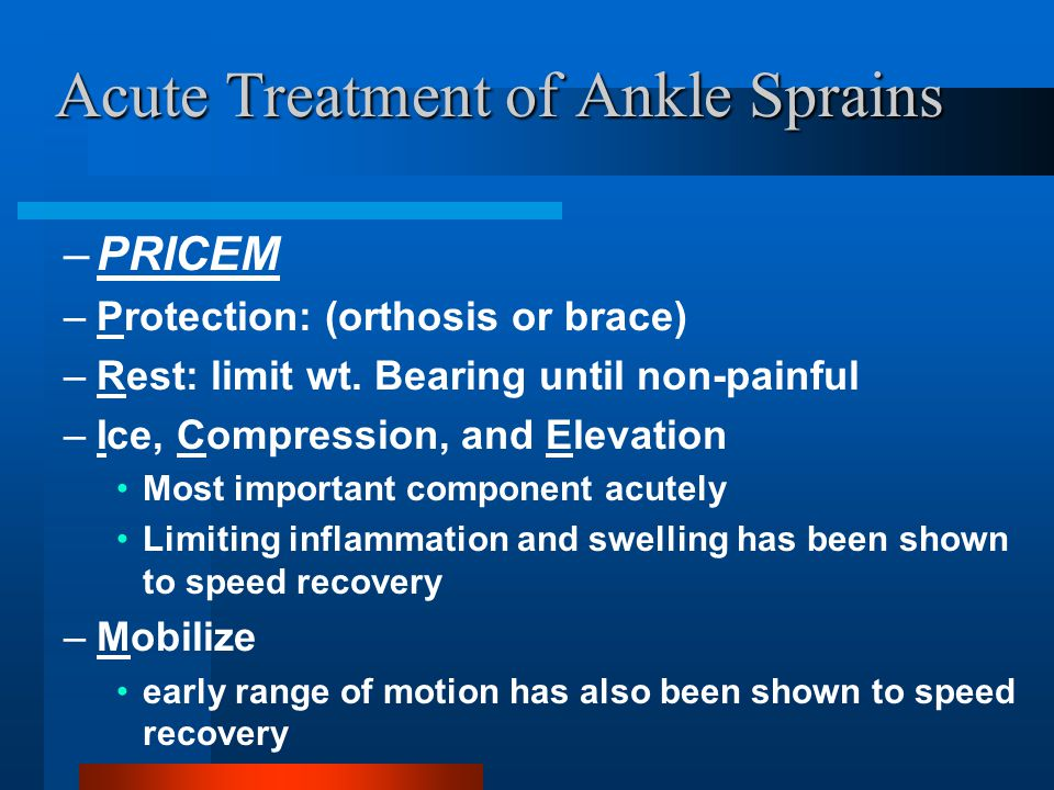 Acute Treatment of Ankle Sprains