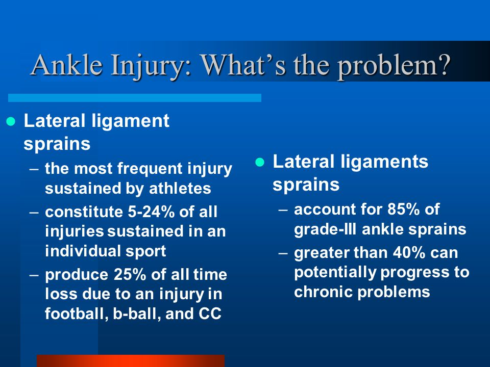 Ankle Injury: What's the problem