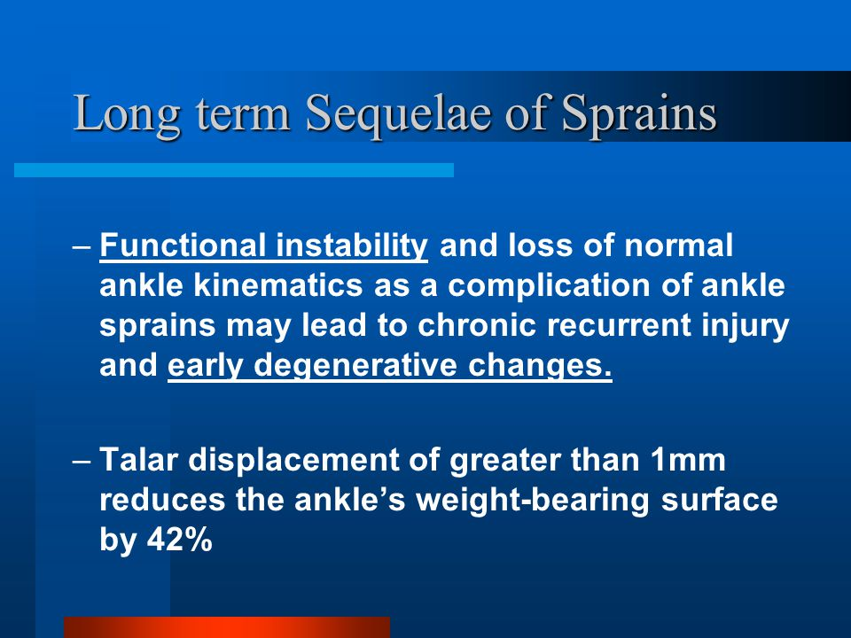 Long term Sequelae of Sprains