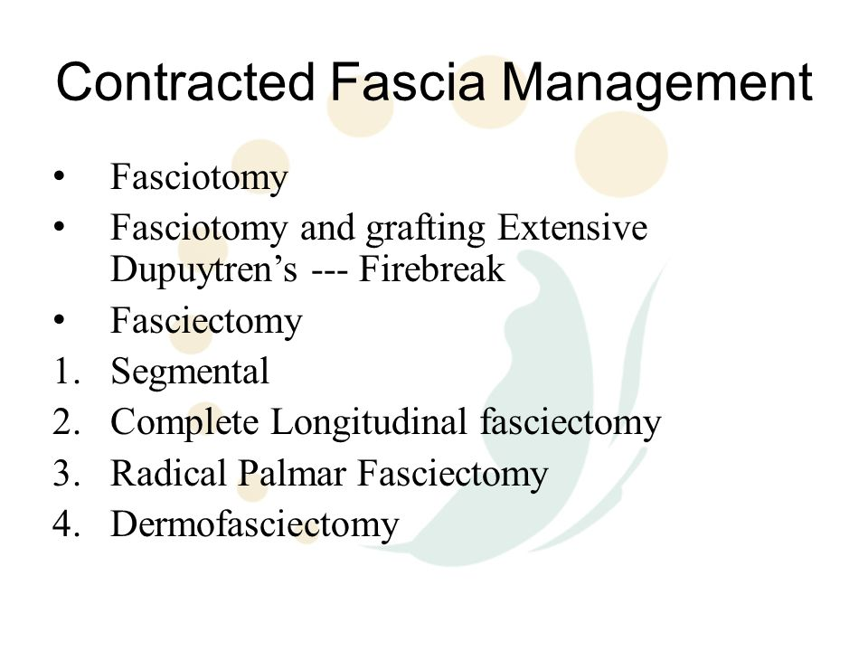 Contracted Fascia Management