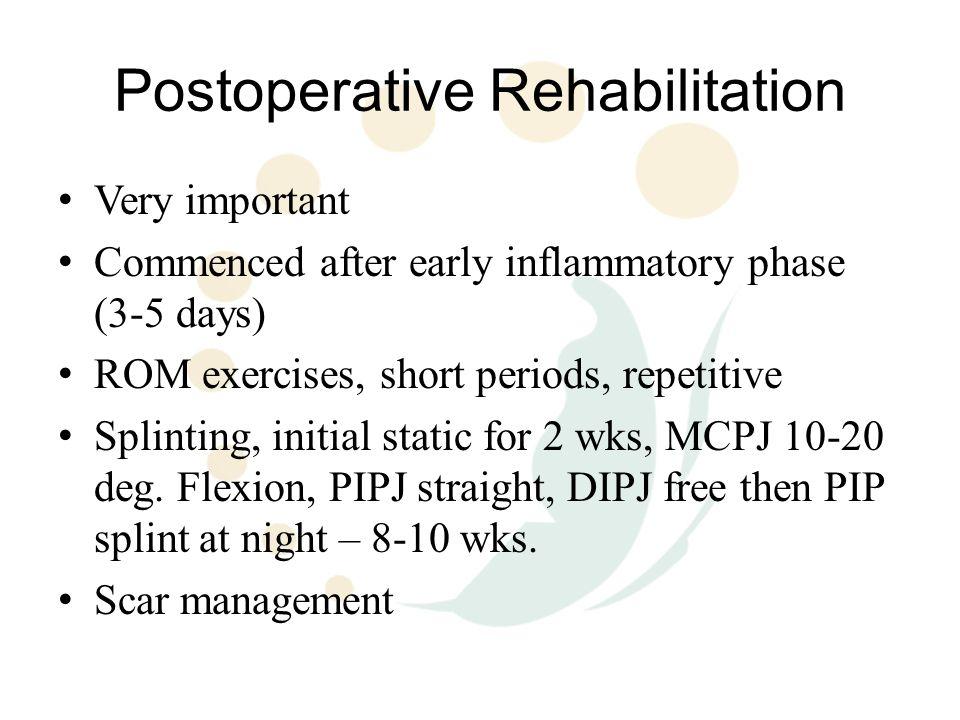 Postoperative Rehabilitation