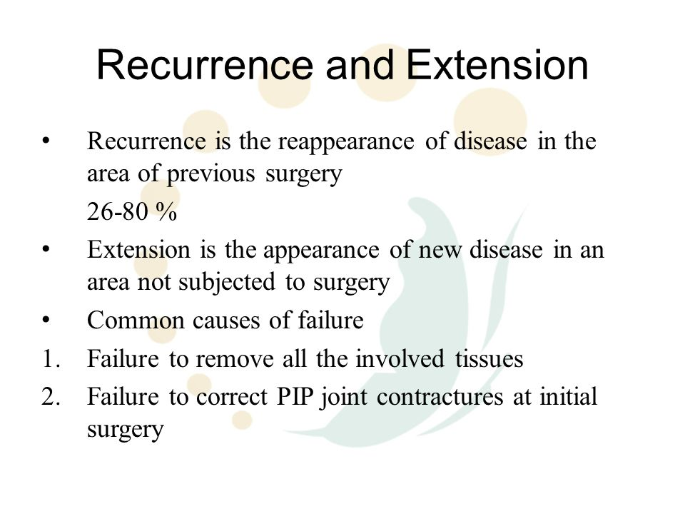 Recurrence and Extension