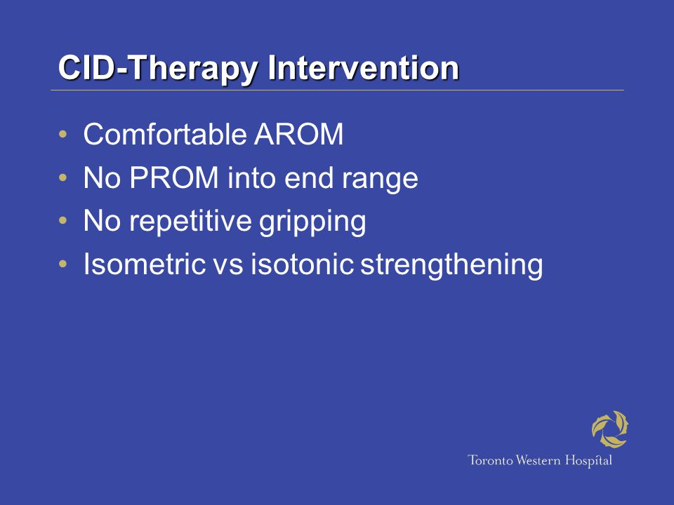CID-Therapy Intervention