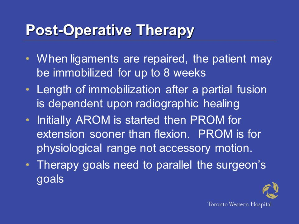 Post-Operative Therapy