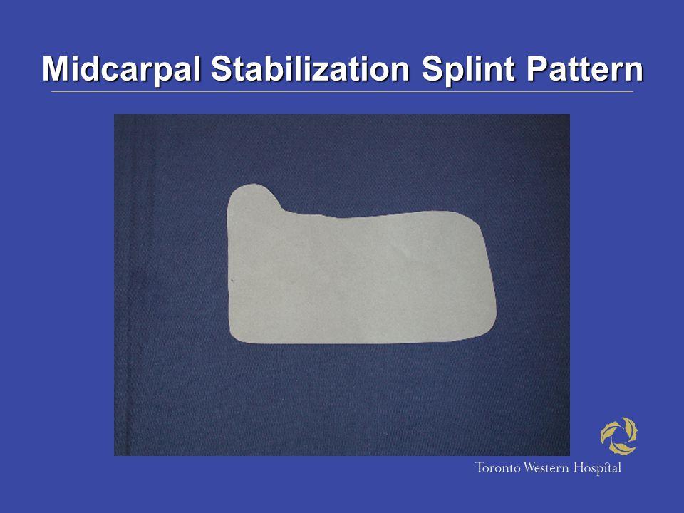 Midcarpal Stabilization Splint Pattern