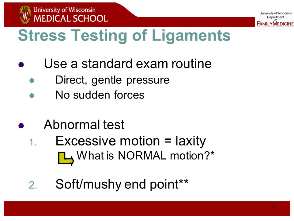 Stress Testing of Ligaments