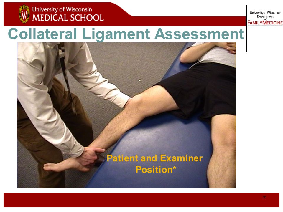 Collateral Ligament Assessment