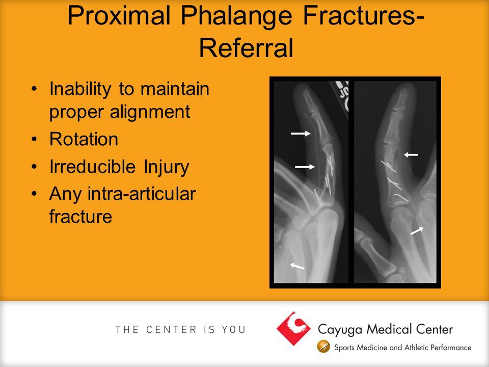 Proximal Phalange Fractures- Referral