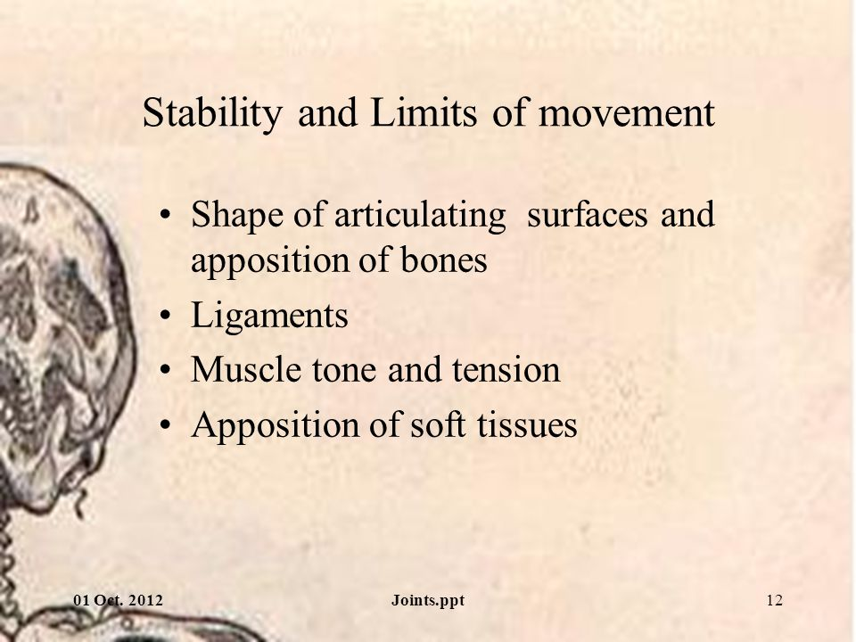Stability and Limits of movement