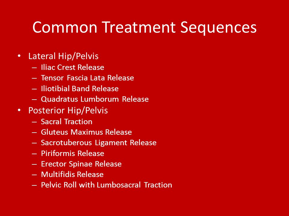 Common Treatment Sequences