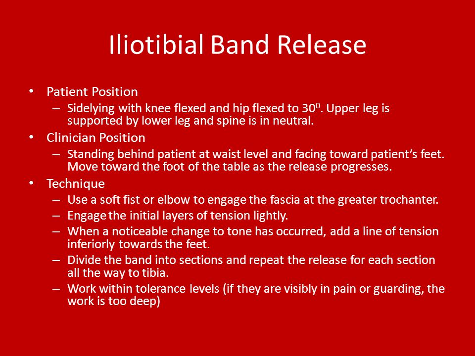 Iliotibial Band Release